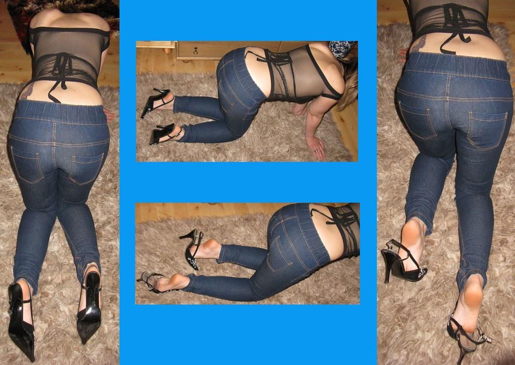 sklavin bestrafen hautenge jeans