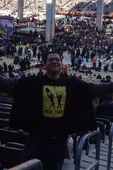 "Damian Gonzalez at Wrestlemania 29, with his ""Heel Turn"" shirt"