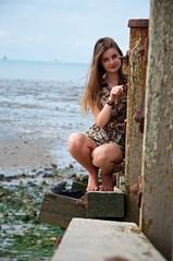 (Elinor Q-P) Tags: sea portrait seaweed colour beach girl pretty whitstable