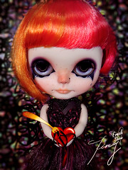 Ting No.12 OOAK Custom Blythe =He Ate My Heart= Freak show