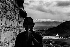 introspection (zhongsense) Tags: china blackandwhite bw snow fall film asia buddhism tibet hp5 kham 中国 sichuan ilford litang 西藏 秋天 四川 佛教 理塘 khampa 黑白色 藏传佛教 甘孜 康巴 胶卷 བོད་ ཁམས་པ་ ཁམས་ ལི་ཐང་
