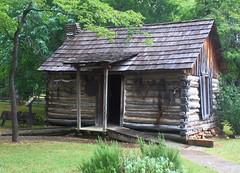 Log Cabin, Adams Corner, Cherokee Heritage Center - Tallequah, Oklahoma (danjdavis) Tags: oklahoma bin nativeamerican logcabin cherokee americanindian cherokeeheritagecenter tallequah adamscorner