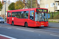 Blue Triangle ED16 AE56OUP (Howard_Pulling) Tags: camera november bus london buses photo nikon photos picture walthamstow 2013 howardpulling d5100