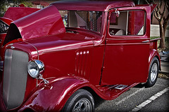 1934 Chevrolet Sedan One Hot Rod (Photographybyjw) Tags: auto show old original red hot chevrolet beauty car sedan vintage reflections cherry fun one this is still interesting boards flavor ride very antique wheels running sharp well chrome single rod restoration while done modification 1934 keeping headlamps louvers photographybyjw