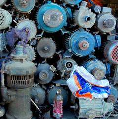 Recycling (PeterCH51) Tags: china morning blue shop square pumps market tibet motors pump workshop squareformat motor recycle recycling gyantse 5photosaday mywinners flickraward gyangze peterch51 flickrtravelaward