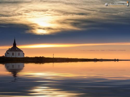 Twilight around Dverberg chapel