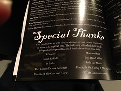"""Special Thanks to Paul in Warren Theater Program • <a style=""""font-size:0.8em;"""" href=""""http://www.flickr.com/photos/109120354@N07/11640655143/"""" target=""""_blank"""">View on Flickr</a>"""