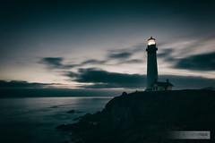 Pigeon Point (Echromatique) Tags: longexposure sky cliff lighthouse beach clouds rocks waves dusk beacon pigeonpoint potd:country=de