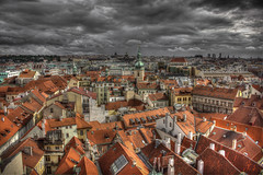 Roofs (Vagelis Pikoulas) Tags: old city autumn roof light red sky sun storm colour tower clouds canon landscape eos town europe day republic view czech prague praha roofs 1855mm x4 2013 550d abigfave colorphotoaward impressedbeauty mygearandme mygearandmepremium mygearandmebronze mygearandmesilver mygearandmegold mygearandmeplatinum mygearandmediamond photographyforrecreationeliteclub photographyforrecreationclassic