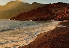Atardecer (F. J. Carneros) Tags: sea españa sun sol beach mar spain mediterraneo playa arena murcia cartagena nikond3200 portus