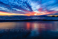 Australia-120331-293 (Kelly Cheng) Tags: travel blue sunset sea orange color colour tourism beach nature water horizontal clouds landscape daylight twilight colorful day cloudy outdoor vivid australia nobody nopeople colourful copyspace fremantle westernaustralia seacape traveldestinations