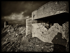 Warscape (Feldore) Tags: world shadow 2 tower les islands war gun battery olympus mp3 bunker german jersey artillery mchugh channel emplacement occupation em1 warfare landes defenses moltke feldore