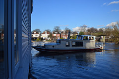 Attack! (grannie annie taggs) Tags: blue water river boat attack mygearandme blinkagain