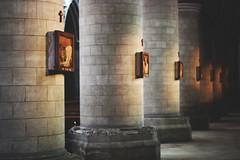 Perspective (Karim Skalli) Tags: england colour art texture landscape photography focus gothic perspective medieval repetition norwich catherdral pillars selectivefocus canon500d