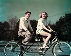 42-32404406 (boodiebembra) Tags: two portrait people male men smiling fashion bicycle female vintage fun outdoors togetherness sweater clothing women shoes friendship adult fulllength couples lifestyle happiness retro nostalgia riding footwear transportation oldfashion teenager vehicle leisure recreation copyspace youngadult twopeople enjoyment built stylish oldfashioned cooperation oldtime teamwork facialexpression tandembicycle knitwear 1950sstyle 20sadult youngadultman youngadultwoman 1819years lookingatcamera ruralscene 1617years healthylifestyle 2024years