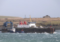 The Thorsvoe Ferry At Houton Pier (orquil) Tags: uk ferry islands bay march scotland pier spring orkney waves gale roro houton scapaflow thorsvoe