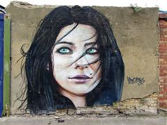 Irony (surreyblonde) Tags: urban streetart london art face graffiti irony walls