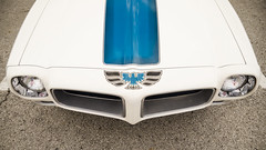 Proto screaming chicken (GmanViz) Tags: color detail car graphics nikon automobile stripes grill firebird hood ccc pontiac 1972 transam gmanviz d7000 columbuscarscoffee