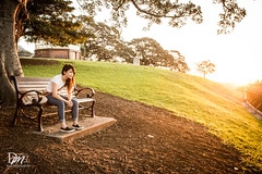 My friend is a model (Danny Mualim) Tags: sunset woman sun house tree girl sunrise garden chair women alone natural think sydney australia nsw thinking lonely rise devotional