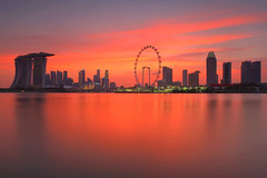 World on Fire (bing dun (nitewalk)) Tags: sunset red skyline garden way bay singapore east burn cbd epic shenton