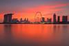World on Fire (bing dun (nitewalk)) Tags: sunset red skyline garden way bay singapore east burn cbd epic shenton