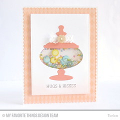 Candy Jar Shaker Card (Torico27) Tags: cards beads candy handmade peach myfavoritethings candyjar mft shakercard dienamics mftstamps