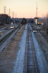 The straight and narrow track passes by Richard's Rendezvous (pjpink) Tags: winter train evening virginia january tracks richmond northside straight narrow rva 2015 straightandnarrow scottsaddition pjpink