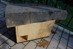 The hedgehog house (III) (dididumm) Tags: wood autumn winter house fall leave leaves wooden herbst haus hedgehog shelter recycling blatt holz bltter hibernation winterschlaf hlzern igelhaus upcycling uwyh wiederverwertung unterschlupf
