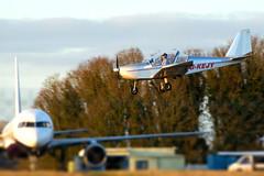 runway ahead (J9STL) Tags: uk airport aircraft ev97 evektoraerotechnik teameurostar