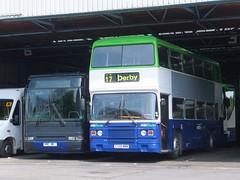 Notts&Derby 20 58 Meadow Road (Guy Arab UF) Tags: road bus buses volvo coach garage meadow trent premiere 20 derby leyland 58 olympian ecw 720 plaxton nottsderby b10m62 wellgladegroup yrc181 p58eto c720nnn onlxb11rv