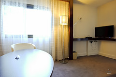 Table and TV setup (A. Wee) Tags: paris france hotel suite etoile lemeridien