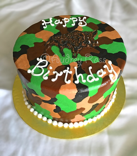 Fine Wild Hog Camo Birthday Cake A Photo On Flickriver Funny Birthday Cards Online Overcheapnameinfo