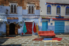 Chefchaouen Square (collinsad2015) Tags: morocco chefchaouen bluecity chacune