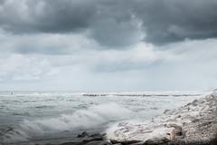 Mareggiata (Vanda Guazzora) Tags: italia autunno pioggia lungomare parcheggio fano abbandono mareggiata