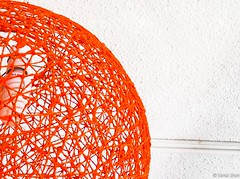 More Rattan - 1st October 2015 (princetontiger) Tags: red lamp bulb ceiling rattan