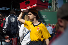 Coca-Cola Vendor in Fenway Park at Boston Red Sox Game (ambivalence_uk) Tags: people sun man boston spring baseball crowd redsox fenway fenwaypark carry ballpark baseballgame icecold sodacocacola fenwayparkfenwayyawkeywayyawkeybostonredsoxredsoxbaseballbaseballgame