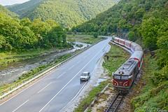 After the rain (Rivo 23) Tags: mountain train river diesel railway class gorge locomotive passenger mm bahn railways gauge 77 narrow 009 bulgarian 760 chepina rhodope 16106 bdz