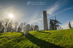 Donaghmore Round Tower (mythicalireland) Tags: ireland sky sun history monument graveyard grass stone historic valley boyne navan meath roundtower donaghmore