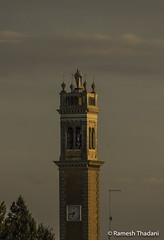 Campanile di San Leonardo (Ramesh_Thadani) Tags: italien sunset italy tower church architecture italia it churchtower clocktower campanile padua veneto sanleonardo italianarchitecture correzzola chiesadisanleonardo
