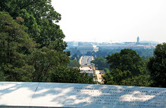 Seen from the grave sites of President Kennedy and his family in Arlington Cemetery - Lincoln Memorial and bridge over the Potomac River (bigjohn1941) Tags: bridge cemetery arlington river memorial over national lincoln potomac