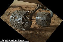 Mars: Wheel Condition Check (PaulH51) Tags: mars rocks science nasa geology exploration discovery jpl enhanced caltech msl lewisandclarktrail planetmars mahli marssciencelaboratory malinspacesciencesystems curiosityrover galecrater marshandlensimager nasajplcaltechmsss wheelcheckout murraygeologicalunit