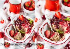 Baked Barely (AlenaKogotkova) Tags: food barley breakfast cherry healthy strawberry berry grains porridge baked healthyeating sweetcherry bakedporridge