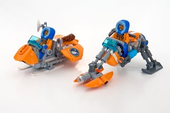 Snow-Fox & Caribou - in ski-mode (ted @ndes) Tags: lego arctic lsb fbtb speederbikes