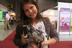 Cafe Neu Romance at Veletrh vdy 2016: GIRL and LEGO MINDSTORMS Puppy robot (Vive Les Robots!) Tags: girl puppy robot lego prague fair science czechrepublic mindstorms 2016 legomindstorms vivelesrobots cafeneuromance robotperformancefestival veletrhvdy