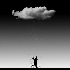 Lifestyle (Tony Agramunt) Tags: blackandwhite bw cloud rain photoshop dance mood lifestyle minimal concept conceptual minimalist shillouette photoedition tonyagramunt