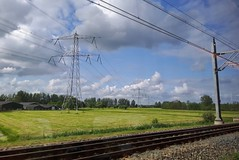 View from the train (Elisa1880) Tags: netherlands train landscape view nederland railway rails uitzicht trein spoor