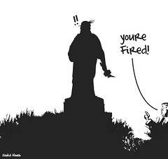 Fired (khalid Albaih) Tags: khalid albaih cartoons khartoon freedom speech press political       trump 2016 hillary obama drons us elections refugees welcome isis is islamic belgam make america great again madonna iraq syria sudan yemen listen gob