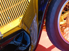 "A12809 / car show details: 1920 kissel 6-45 ""gold bug"" speedster (janeland) Tags: sanfrancisco california november abstract detail car reflections automobile vehicle mosconecenter speedster primarycolors 94103 2015 goldbug sanfranciscointernationalautoshow pe0 1920kissel645"
