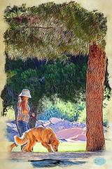 0617 IMG_2163 (JRmanNn) Tags: morning paradise exercise lasvegas sunsetpark stroll dogwalking dogwalker strolling mokuhanga
