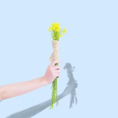 flower (DG.H.) Tags: shadow flower hand pastel minimal